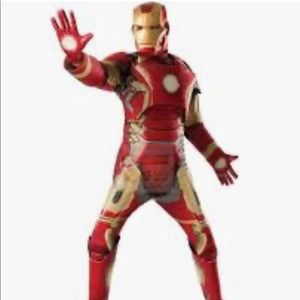 Iron man deluxe costume with gloves size standard